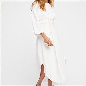 Free People White Maxi Corset Dress Size Small
